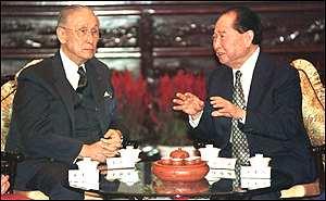 今天(9月1日)在上海会见海基会前董事长辜振甫的夫人辜严倬云,汪道涵