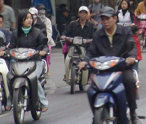 越南人的主要交通工具──摩托车