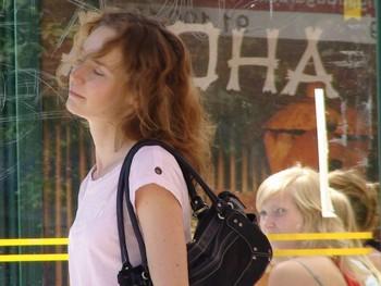 地铁乌克兰美女