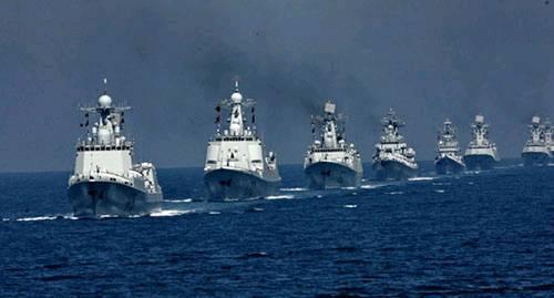 除了中国自己的两艘核潜艇和两艘柴电潜艇,5艘导弹驱逐舰,6艘护卫舰
