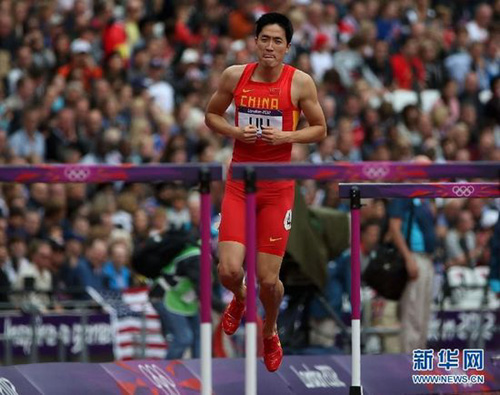 刘翔可以对跑道说 不