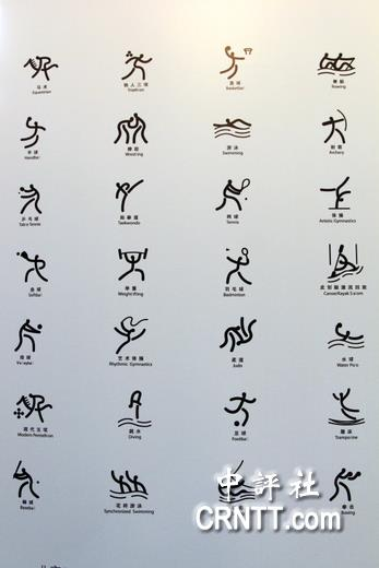 的各项运动赛事符号,像不像咱们老祖宗的象形文字呢?(中评社 高