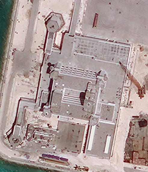 赤瓜岛卫星图 大型太阳能发电组