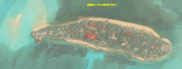 太平岛,中洲礁,南钥岛,鸿庥岛卫星图