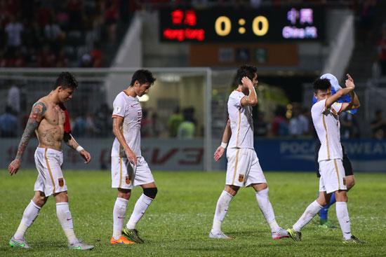 1月17日,在2018年世界杯亚洲区预选赛C组比赛中,中国队客场战
