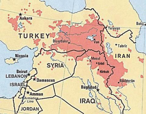 土耳其人口分布地图-社评 库尔德成中东新 火药桶