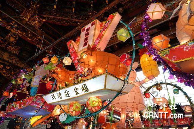 正月十五闹元宵 新竹城隍庙花灯艺术展登场图片