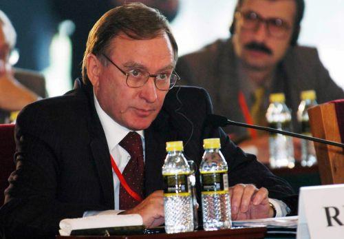 俄罗斯代表团团长,外交部副部长阿列克谢耶夫26日在会上发言.(新华社)