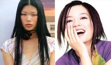 左图是2000年世界超级模特大赛亚军的中国国际级名模吕燕.