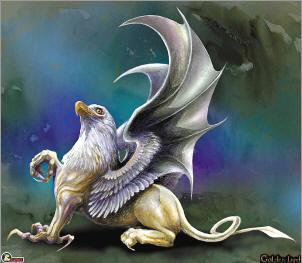 神话中的鹰头狮身怪兽.