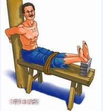 中国特色老虎凳.