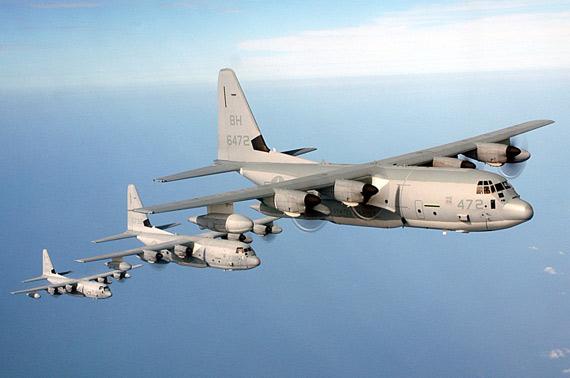 美制KC-130J空中加油机.-驻日美海军陆战队接收首架KC130J加油机