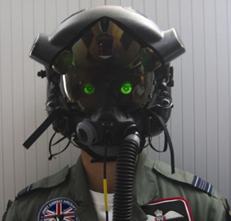 英国空军为f-35战机研制的头盔.