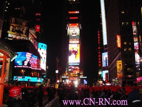 纽约时代广场跨年倒数计时
