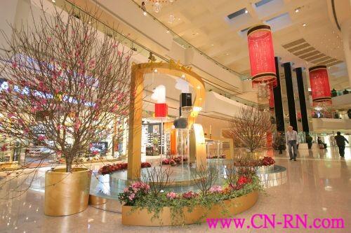 农历新年将至 香港各大商场装潢迎新春