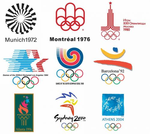 历届夏季奥运会会徽图片