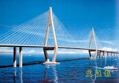 港珠澳大桥设计图.高清图片