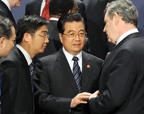 G20峰会大合照 胡锦涛站布朗侧