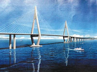 港珠澳大桥设计图.