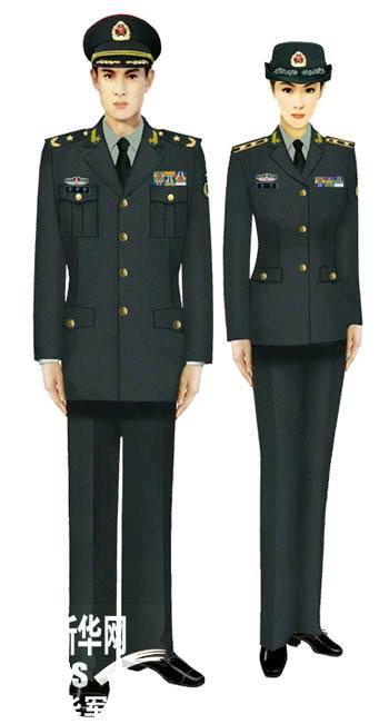 官媒刊登解放军07式军服标准图样 组图一图片