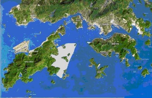 (见5图-香港地大屿岛东部填海地图)