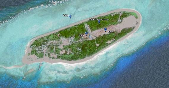 南沙群岛中最大的岛屿