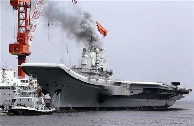中国第一艘航空母舰瓦良格号.-中国评论新闻 瓦良格成功试航 国产航