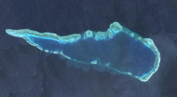 仁爱礁卫星图