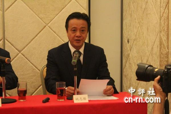 中国和平统一促进会香港总会常务副会长姚志胜.(中评社 鱼莎莎摄)