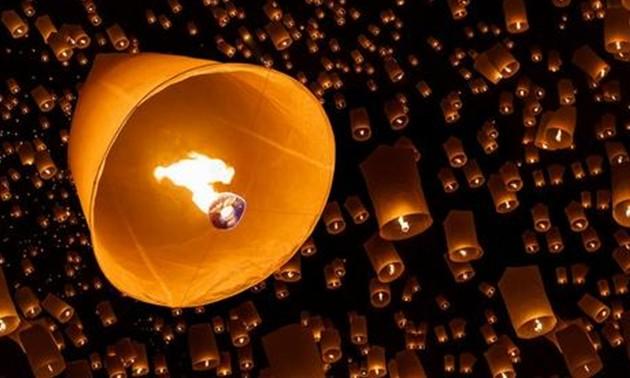 在图所示的孔明灯升空的原理_孔明灯简笔画
