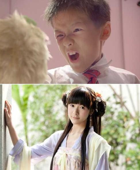 中国帅气小学童星男生头像
