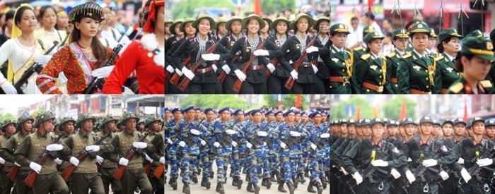 中国评论新闻:越南举行阅兵式彩排 枪械种类多