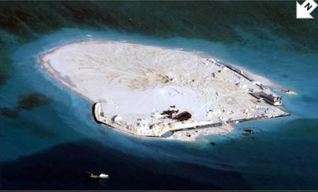 在被问及bbc对中国在南海大规模填海造岛