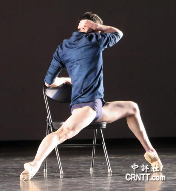 张镇新独具风格的现代舞表演,让观众们印象深刻.(中评社彭媁琳摄)