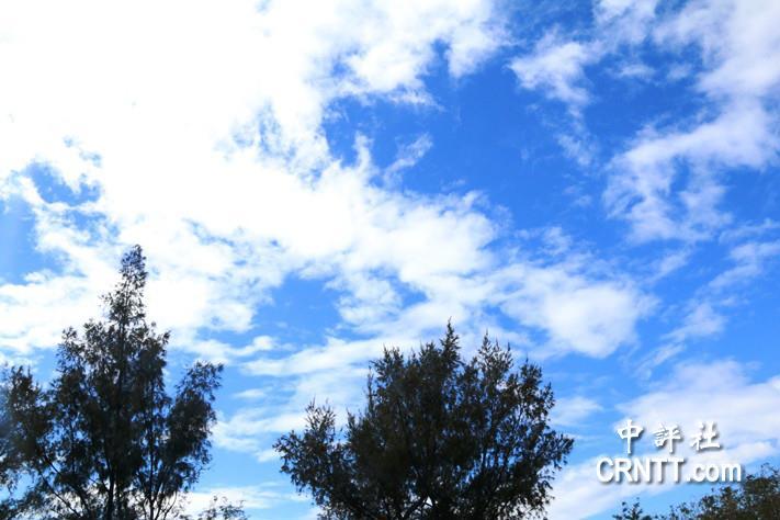 冬天的南台湾 蓝天白云任自由