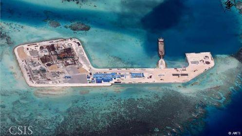 在中国进行南海填海造岛工程之后,美日一直费尽心机纠集与中国