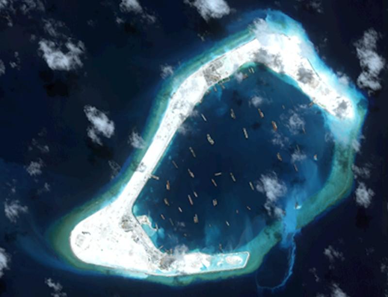 7月21日渚碧岛和南薰岛卫星图