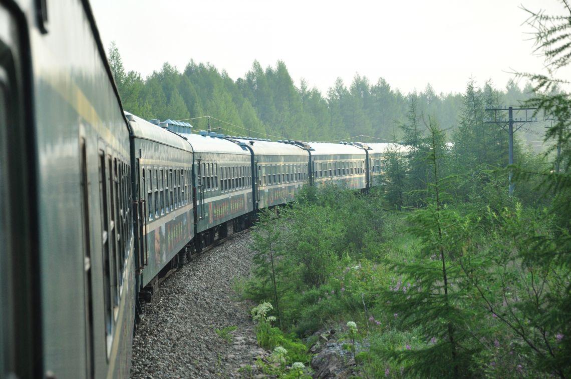 """从7月5日起,内蒙古呼伦贝尔""""泰加""""号森林旅游火车开启森林观光旅游"""
