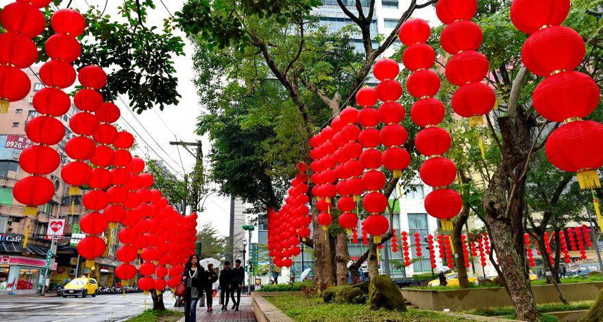 台北:张灯结彩迎新春(组图)