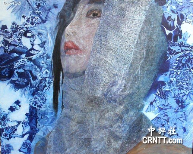 吴蕙彣,《浴火凤凰》,132x160 cm,2015台湾之美油画比赛优选.图片