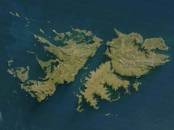 马尔维纳斯群岛卫星图片.