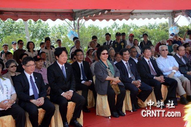 賴清德為故獨盟主席建紀念公園 陳菊出席