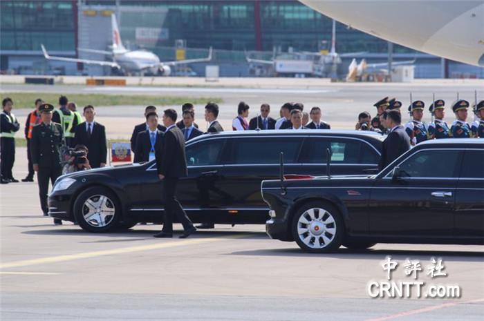 俄羅斯普京乘專機抵京參加一帶一路峰會
