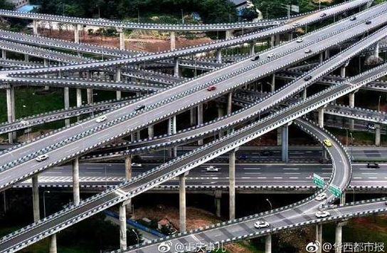 重庆这座立交桥完工 网友 导航会被绕晕